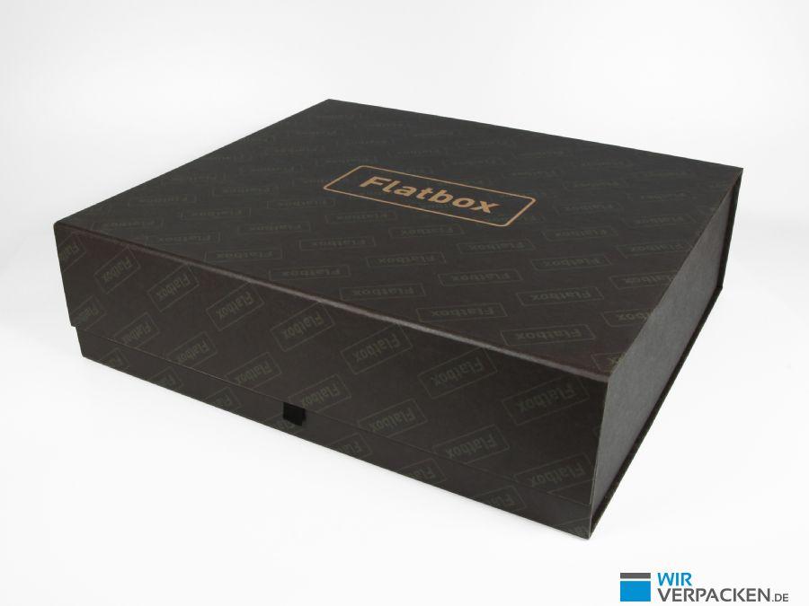 Faltbare Premiumbox mit mattem Papier