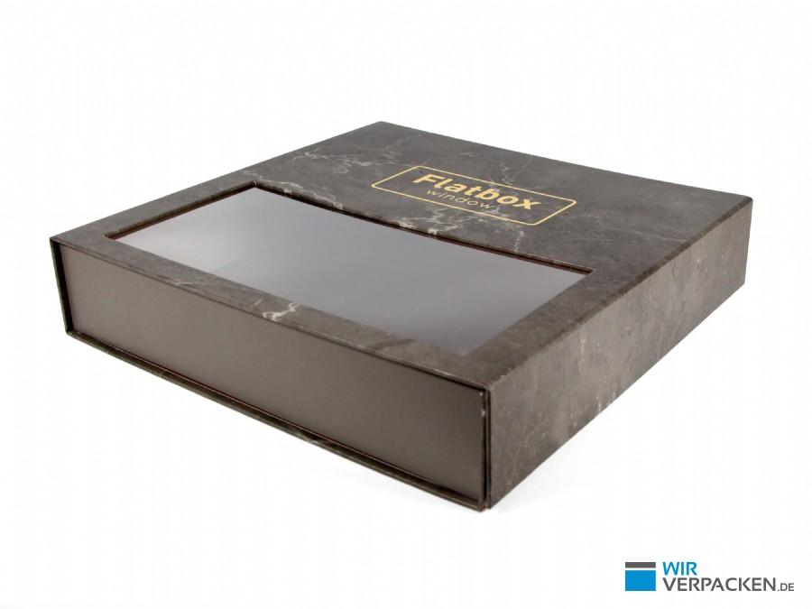 Flatbox Window - Magnetfaltbox mit Sichtfenster