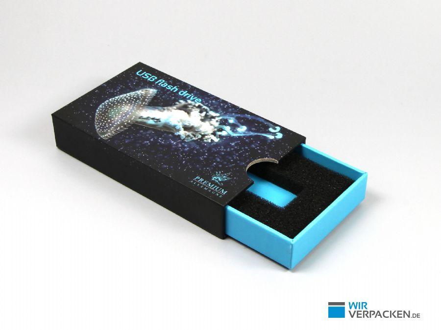 Schiebeschachtel für USB-Stick