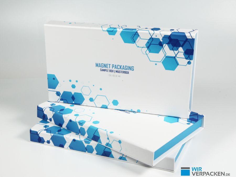 Flache Premiumverpackung im Standardmaß