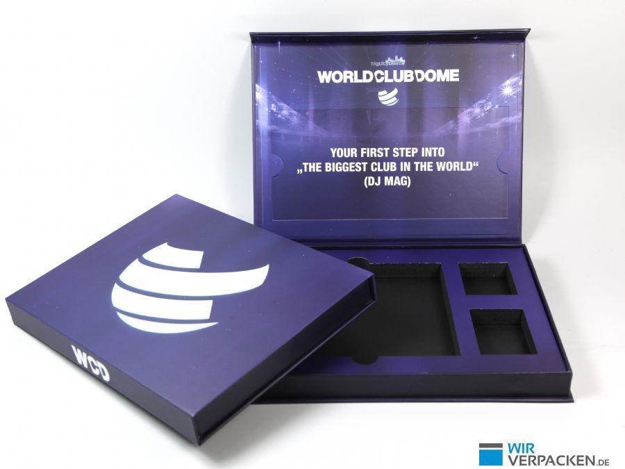 VIP Ticket Box mit bedrucktem EVA Inlay