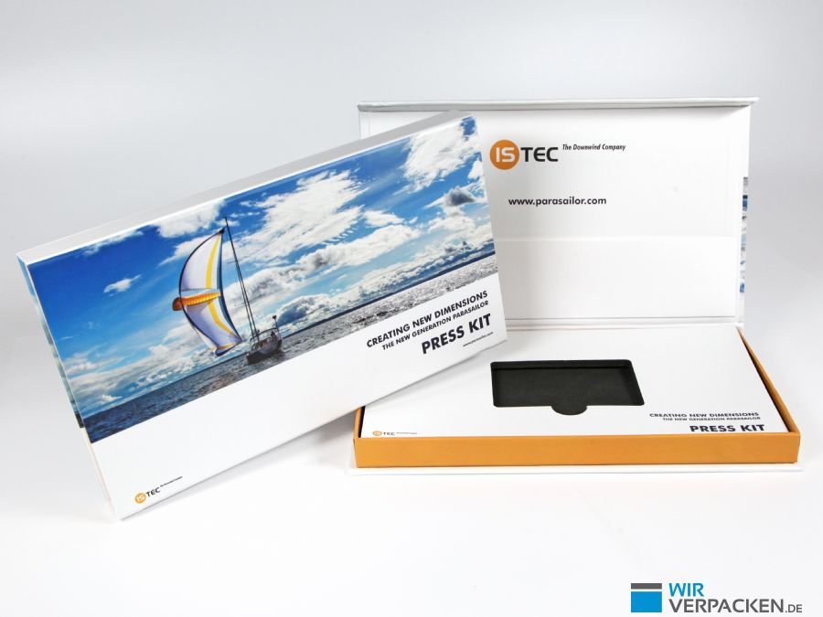 ISTEC Press Kit Klappschachtel