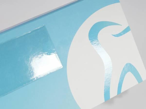 Transportbox für 2 Zahnmodelle - Die Dentalbox für Dentallabore, Zahnlabore und Zahntechniker in schlichtem Design mit Visitenkartenhalter - Ab 20 Stück