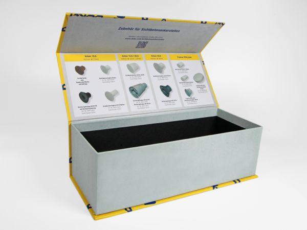 Das Innere dieser schön gestalteten, großen Produktverpackung wurde technisch designt und mit vielen Produktinformationen im Inneren der Box bedruckt.