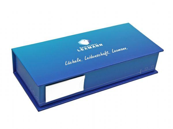 klappbox schachtel buchform magnet box fenster
