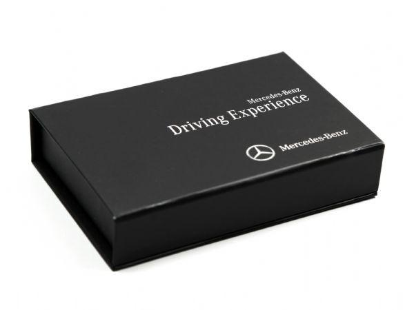 Schlichte schwarze Klappschachtel mit Digitaldruck für Mercedes Benz