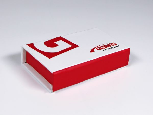 Wunderschöne Klappbox aus Feinkartonage mit Inlay und Aufdruck.