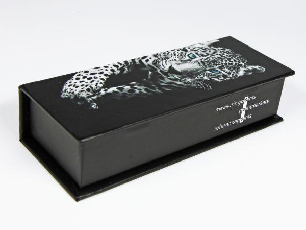 Buchdeckel Klappbox mit umlaufenden Aufdruck