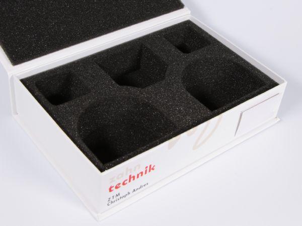 Schaumstoffinlay in schwarz für Zahntechnik
