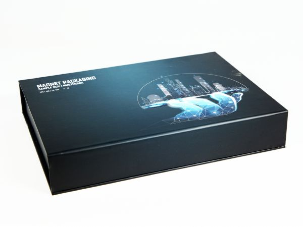 Bedruckbare Klappbox 225 x 160 x 34 mm - Verpackung DIN A5 Standardmaß, Produktverpackung, Geschenkverpackung, vollflächig im Digitaldruck bedruckbar, Innenraum bedruckbar