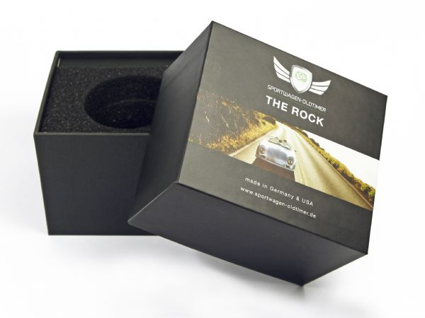 Hohe Box mit Stülpdeckel mit Fotodruck für Autopflegemittel