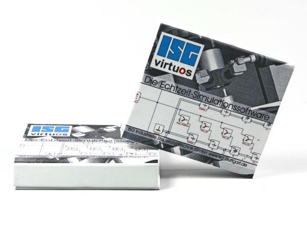 Weiße Klappbox mit vollflächigem Digitaldruck