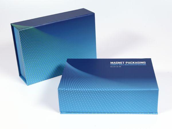 DIN A6 große Premiumverpackung auf Vollkarton mit vollflächigem Aufdruck