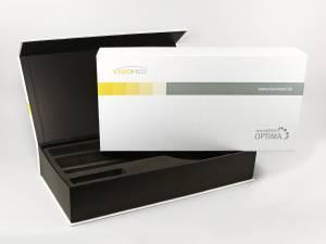 Klappbox mit bedruckter Banderole für medizinische Produkte