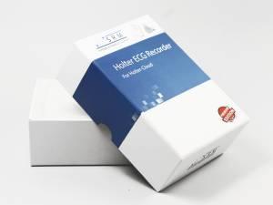 Stülpdeckelverpackung in weiß mit Aufdruck
