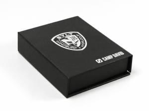 Hochwertige Klappbox mit Siebdruck für Camp David