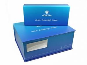 Klappboxen mit Buchdeckel und Kartenetui für Dentallabore und Zahntechniker