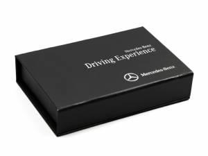 Edle schwarze Klappbox mit Digitaldruck