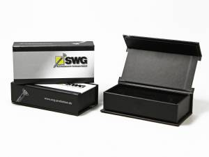 Klappbox mit Magnetverschluss für Schraube