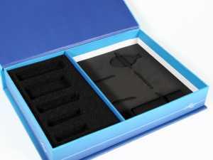 Schaumstoffinlay in schwarz mit verschiedene Aussparungen