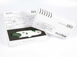 Industrie Werkzeug Verpackung mit vollflächigem Aufdruck und Inlay