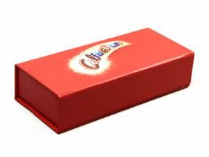 Robuste Klappbox in rot mit Logoaufdruck