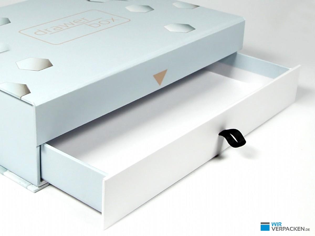 Drawer Box Verpackung mit Schublade im Detail