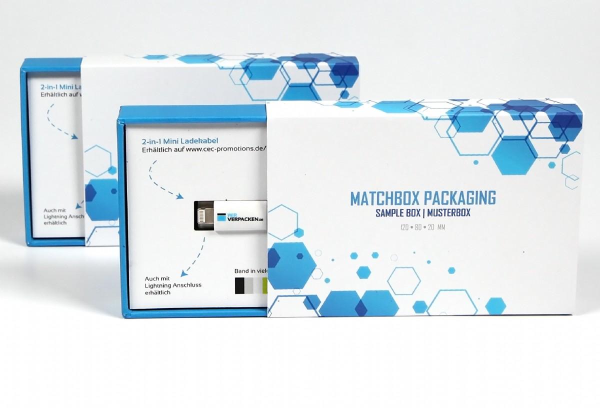matchbox packaging bedruckte vorderseite